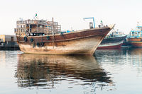 Traditional wooden cargo ship