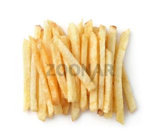 Top view of fried potato sticks