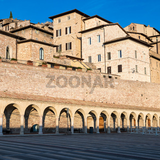 Assisi, Italy. View of old city