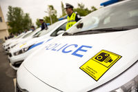 Police officers cars