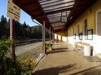Bahnhof von Bečov nad Teplou,Tschechien