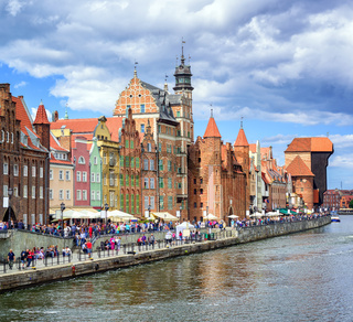 Old town of Gdansk on Motlawa river, Poland