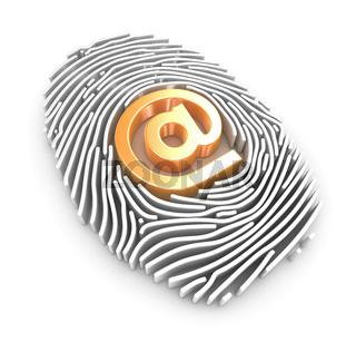 Fingerprint and At Symbol