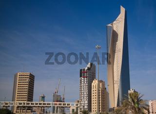 Cityscape of the Kuwait city under the sky, Kuwait