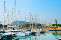 Sailboats at Port Vell. Barcelona, Spain