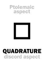 Astrology: QUADRATURE (aspect)