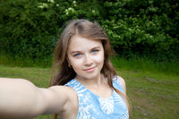 girl taking a selfie picture