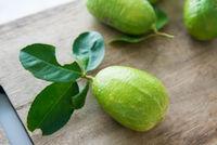 organic green lemons