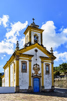Old catholic church in Ouro Preto city