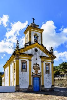 Old catholic church in Ouro Preto city