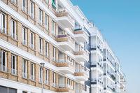 residential building facade , modern apartment buildings