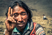 Man and peace in Nepal