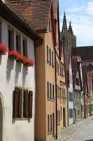 Beautiful streets in Rothenburg ob der Tauber