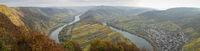 Moselschleife bei Bremm an einem trüben Herbsttag, Deutschland, Europa