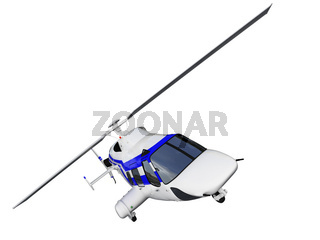 isolated helicopter over white background