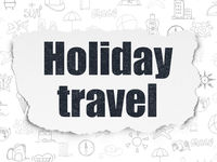 Tourism concept: Holiday Travel on Torn Paper background