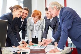 Team beim Business Consulting