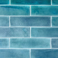 Ceramic tiles on the wall in blue.