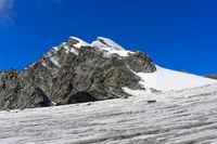 Gipfel Allalinhorn, Saas-Fee, Wallis, Schweiz