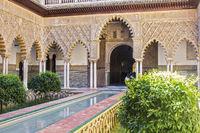 Patio de las Doncellas The Alcazar Seville Spain