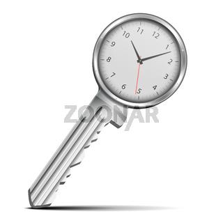 Key with clock