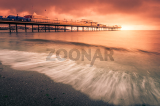 Paignton Pier at sunset