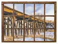 window view - old railroad trestle