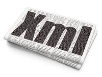 Software concept: Xml on Newspaper background