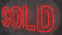 Sold Neon Sign
