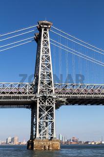 Pillar of Williamsburg Bridge in Manahattan, New York