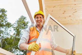 Kompetenter Fenstermonteur auf Baustelle