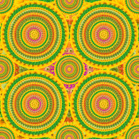Circular psychodelic  background