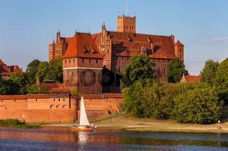 High Castle of Malbork Castle River View