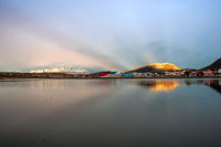 Very early morning in Ushuaia, Tierra del Fuego, Patagonia, Argentina