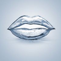 lips made of water