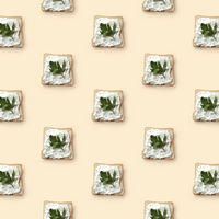 sandwiches with butter and parsley