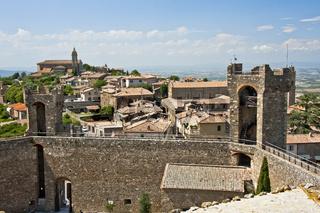 die Festung Fortezza, Festung der Stadt Montalcino, Toskana, Italien