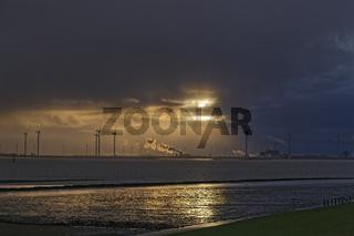 Abendstimmung an der Knock in Ostfriesland