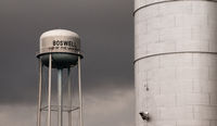 Silo and Watertower Storage Reservoir Agriculture Water Boswell Indiana