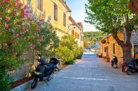 Island of Zlarin stone street view