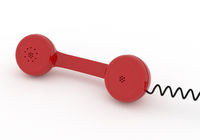 Red phone, contact or service concept