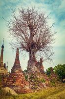 Sankar pagoda. Shan state. Myanmar.