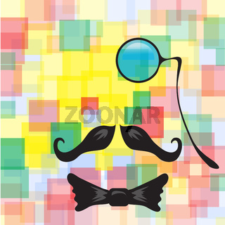 Vintage silhouette of monocle