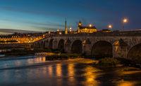 Jacques-Gabriel Bridge over the Loire River in Blois, France
