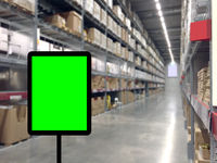 Abstrast Blurred background : Warehouse carg