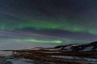 Polarlicht ueber Island