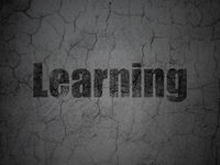 Learning concept: Learning on grunge wall background