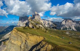 Seceda peak, Odle mountain range, Gardena Valley, Dolomites, Italy