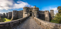 Entrance gate of the Angers castle, France