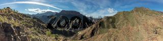 Panorama mit Gebirge und Schlucht in Gran Canaria